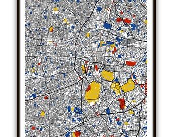 Tokyo Map Art / Tokyo, Japan Wall Art / Print / Poster / Modern Home or Office  Decor