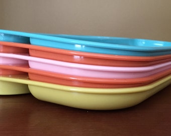 Vintage plastic food trays