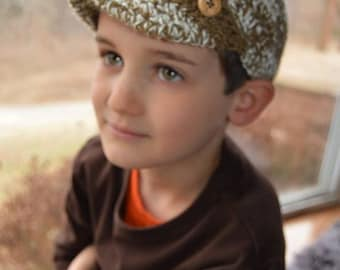crochet boys newsboy hat