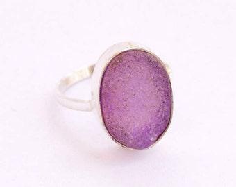 Druzy Ring, Stone Ring, Druzy Silver ring, Sterling Silver ring,  Pink Druzy Stone ring, 925 sterling silver ring, Druzy Jewellry,  Druzy