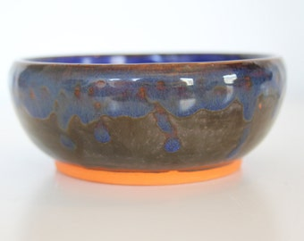Hand thrown stoneware pottery bowl