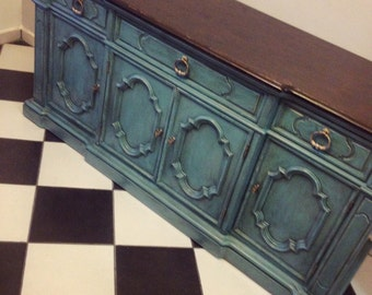 SOLD Vintage  Farmhouse, Rustic, shabby chic, buffet, tv console