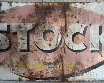 Table advertising liquor stok metal vintage 1950/1960