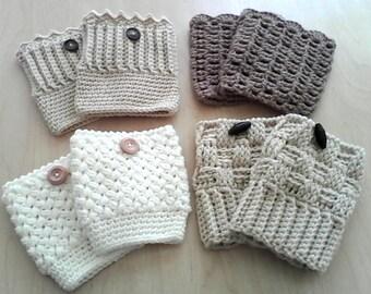 SUMMER SALE: Crochet Boots Cuffs = 4 Choices