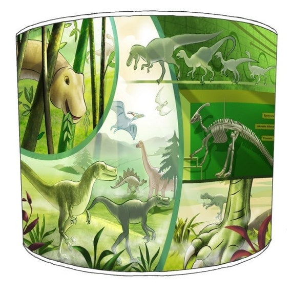 abat jours de dinosaures pour enfants pour par premierlampshades. Black Bedroom Furniture Sets. Home Design Ideas