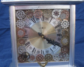 Price reduced! Steampunk Industrial Chiming art mantel clock