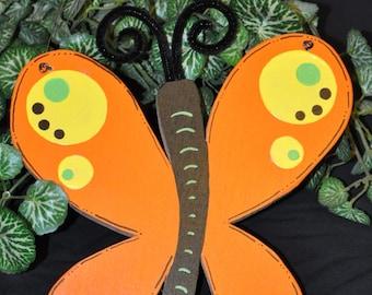 Wood and Paint Butterfly Door Hanger