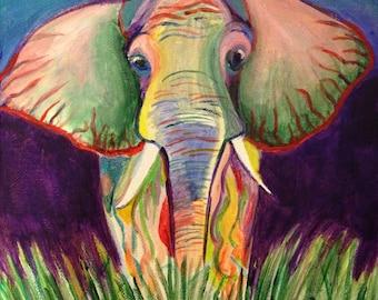 Elephant Safari painting