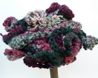 Organically Styled Freeform Crocheted Hat