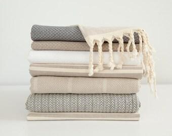 Beach luxury grey fouta towel