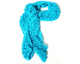 Lacy Love Knot Scarf, Bright Teal