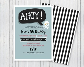Ahoy! Pirate Party Invitation