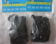 Black Color: Blue Jay Brand Doll Hair Curly Chenille