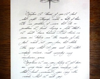 Custom made handwritten love letters, wax sealed, optional illustration.