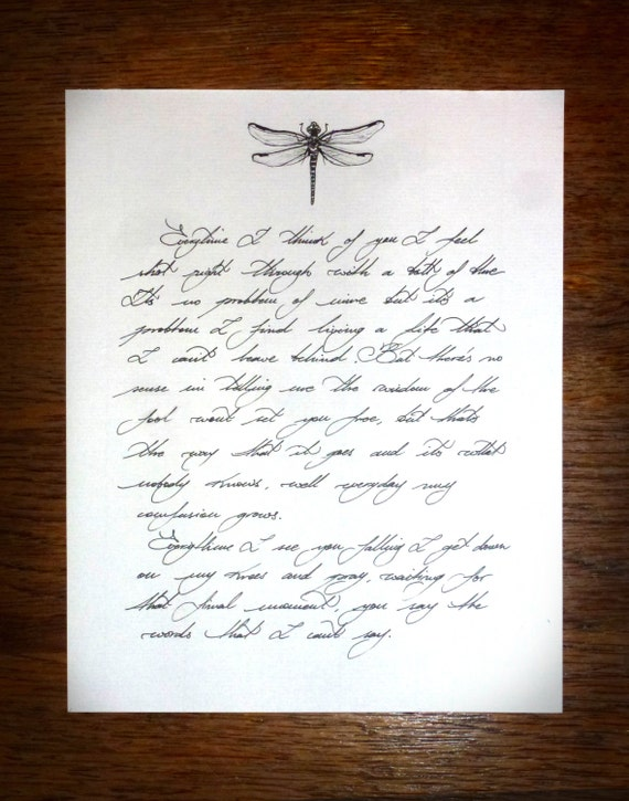Custom Made Handwritten Love Letters Wax Sealed Optional