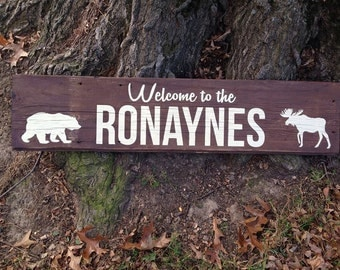 Wooden Welcome Signs or Family Name Signs