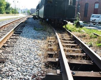 Train in Maine Scenery Photo Print