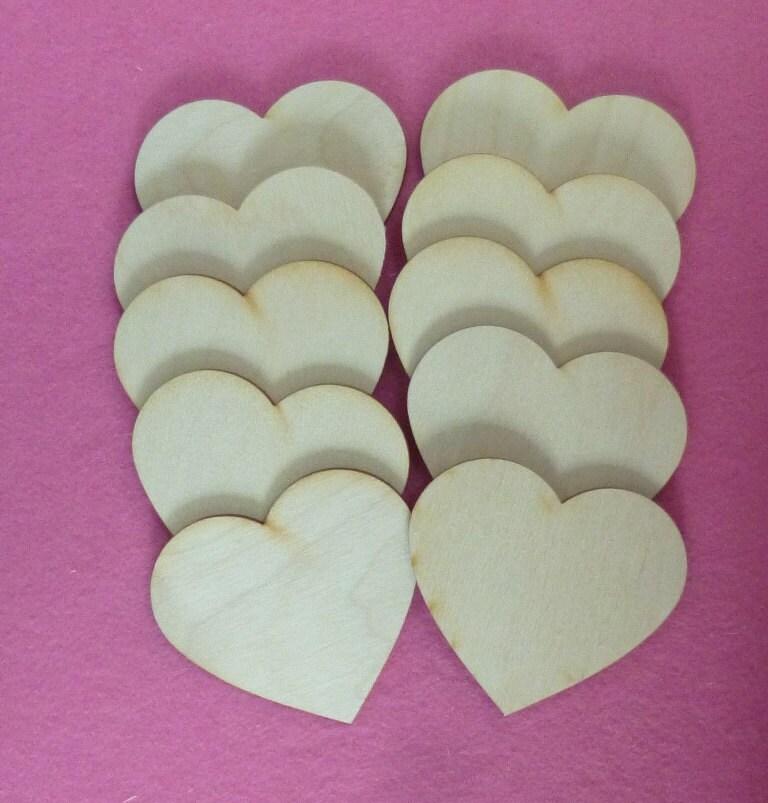 Ohrringe Aus Holz FUr Männer ~ 10 Herzen aus Holz 7 cm für Namensschild von Holzteilchen auf Etsy