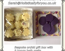 Luxury aromatherapy lavender rose aromatherapy bath melts. Pampering bath therapy. Gift for her. Bridesmaid Gift.