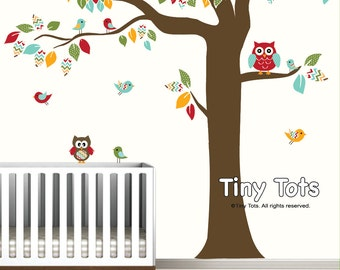 Wall Decal Nursery Wall Decals Tree Decal With Owls Birds