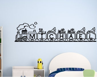 Personalized: Train Custom Name Decal, choose 1 color