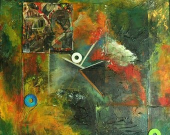 Abstract Expressionism - Original MixMedia Painting - One of a Kind Contemporary