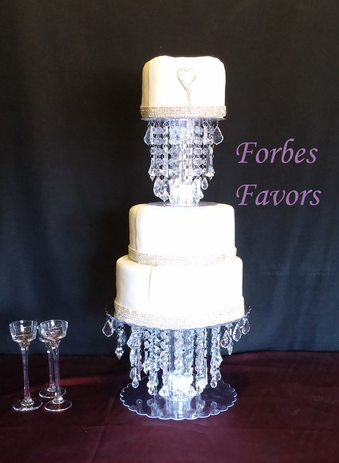 wedding cake stands with crystals glamorous cake stand wedding and special events 25676