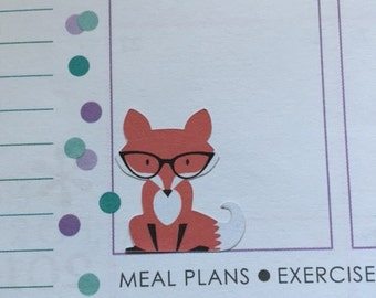 Fox Stickers for your Life Planner or Calendar