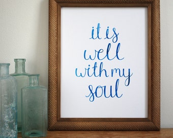 It Is Well with My Soul - Hymn Print - Wall Art