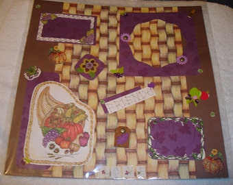 Premade 12x12 Scrapbook Page - THANKSGIVING/FRIENDS