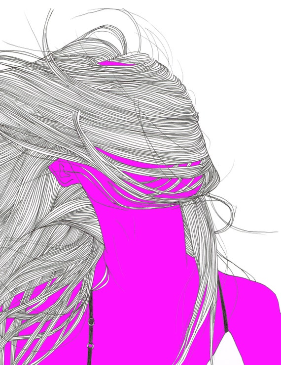 how to draw hair blowing in the wind