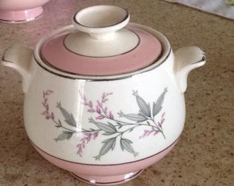 Homer Laughlin shabby chic sugar bowl pink hard to find!