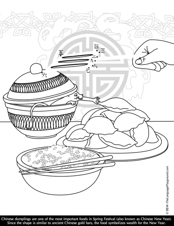 Chinese New Year Coloring and Dot-to-Dot by LanguagePlayground