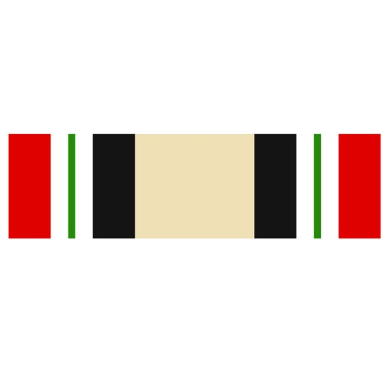 Us Army Iraq Campaign Ribbon Decal Full Color Decal