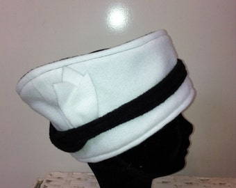 Black and white fleece headband