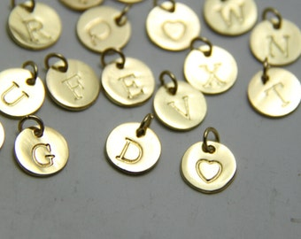 Add a Gold or Silver Initial Charm to any Necklace, Bangle & Bracelet You order