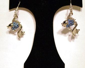 Earrings Blue Fish ER07
