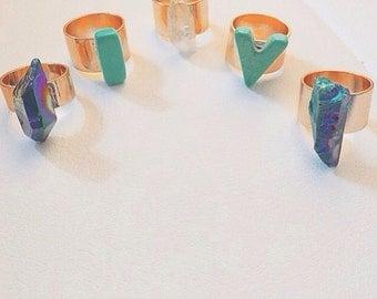 Crystal ring bling