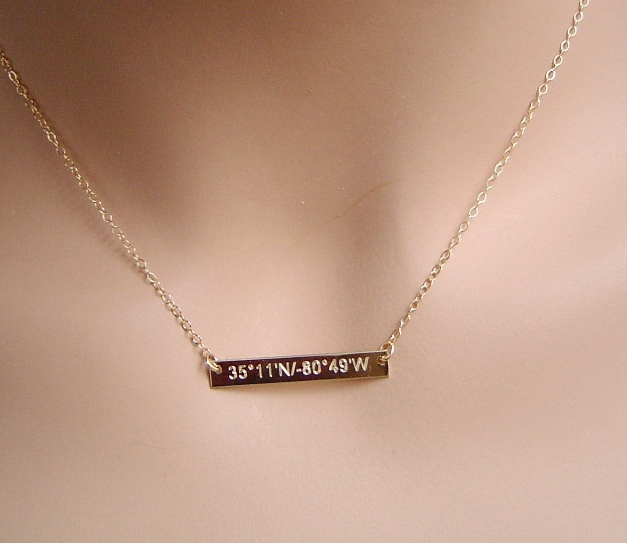 big sale personalized gold bar necklace by personalanddesign