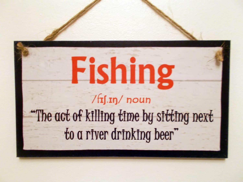 Wooden sign plaque definition fishing funny by dhshomeware - Plaque de finition ...