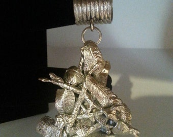 Sterling silver sculpture pendant