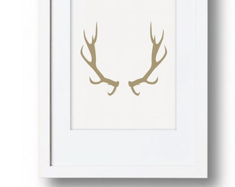 Minimalistic Deer Wall Art