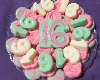 Sweet 16 chocolates candy tray