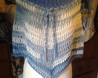 Ribbed Collar Poncho Crochet Pattern - Quick 'N Easy!