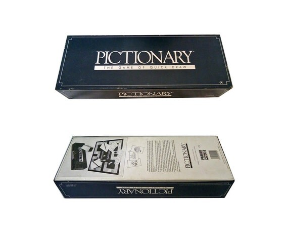 Vintage game pictionary