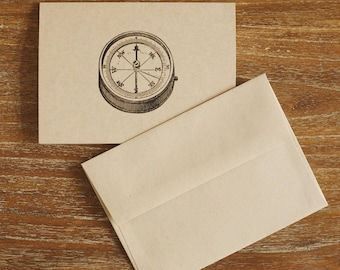 Folded Compass Note Cards (Set of 8)