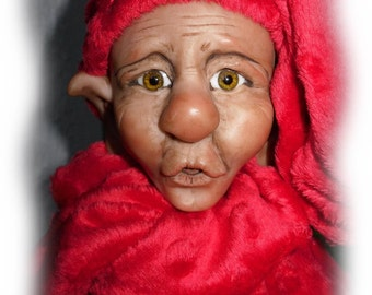 Wee Willie, A OOAK Lil Darlin' Original BareFoot Santa Elf from the BareFoot Santa Elf Series