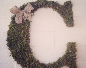 Large moss letter