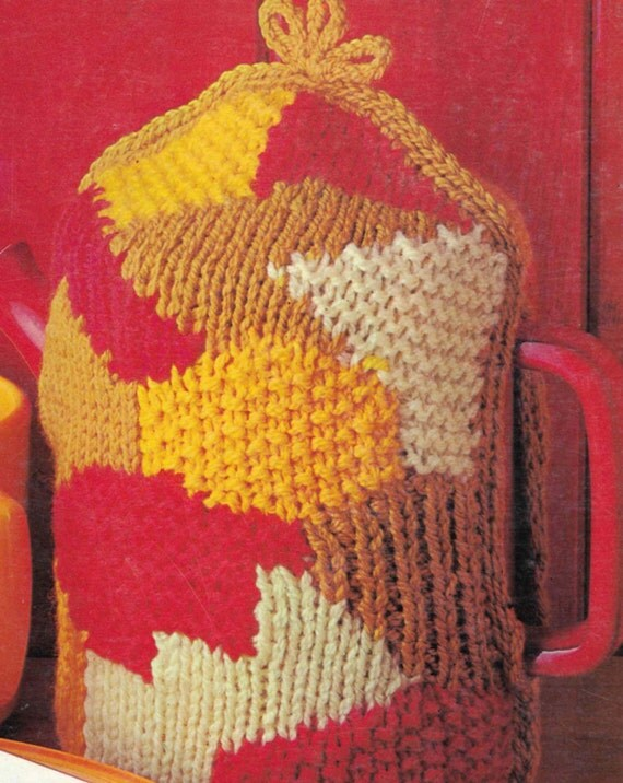 Coffee Pot Cosy Knitting Pattern : Knitted Teapot and Coffee Pot Cosies ... Pdf Knitting Pattern ... Fete, Fair,...
