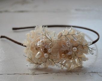 Elegant feminine bridal side tiara